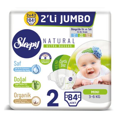 Sleepy Natural Bebek Bezi 2 Beden Mini 84 Adet