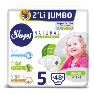 Sleepy Natural Bebek Bezi 5 Beden Junior 48 Adet