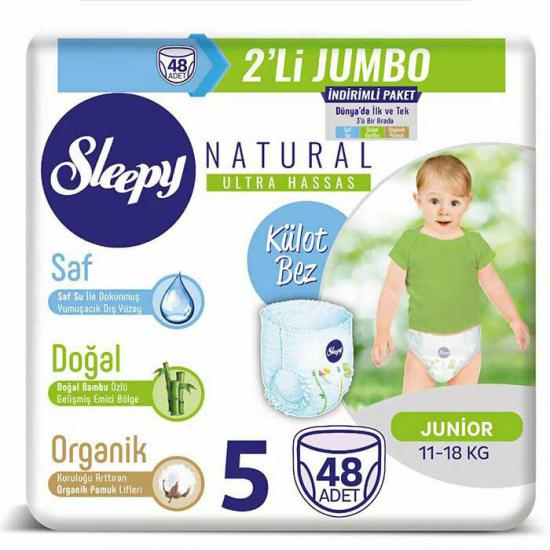 Sleepy Natural Külot Bez 5 Beden Junior 48 Adet
